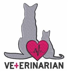 Veterinarian embroidery design
