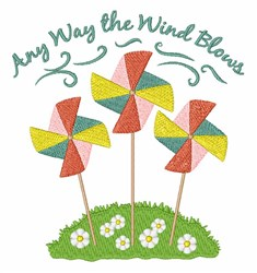 The Wind Blows embroidery design