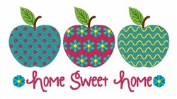 Sweet Home Apples embroidery design