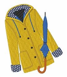 Raincoat embroidery design