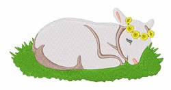 Easter Lamb embroidery design