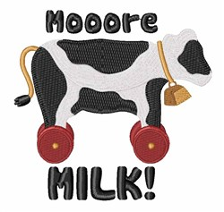 Mooore Milk embroidery design