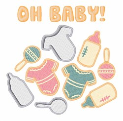 Oh Baby embroidery design