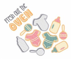 Fresh Out Oven embroidery design