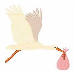 Stork Bundle embroidery design