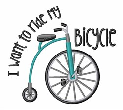 Ride My Bicycle embroidery design