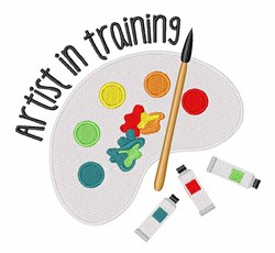 Artist In Training embroidery design