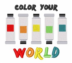 Color Your World embroidery design