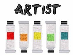 Artist embroidery design