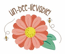 Un-Bee-Lievable embroidery design