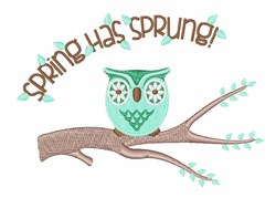 Spring Sprung embroidery design