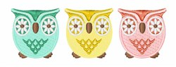 Owls Border embroidery design