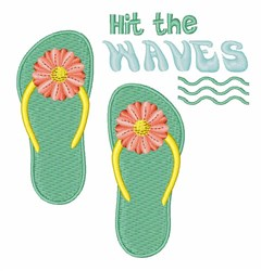 Hit The Waves embroidery design