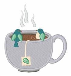Tea Cup Birds embroidery design