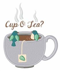 Cup O Tea embroidery design