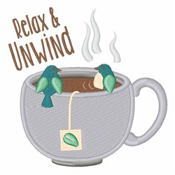 Relax Unwind embroidery design