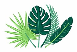 Tropical Leaves embroidery design