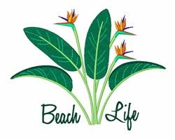 Beach Life embroidery design