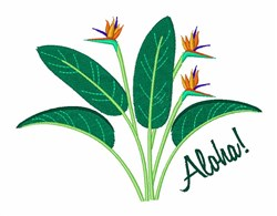 Aloha Flowers embroidery design