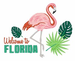 Welcome To Florida embroidery design