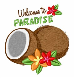 Welcome Paradise embroidery design