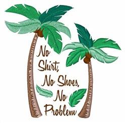 No Problem embroidery design