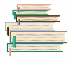 Stacked Books embroidery design