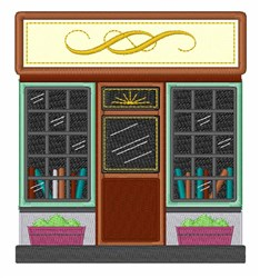 Library embroidery design