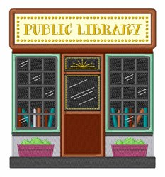 Public Library embroidery design