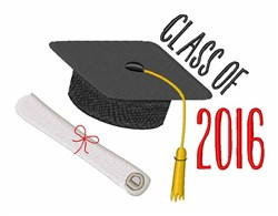 Class Of 2016 embroidery design