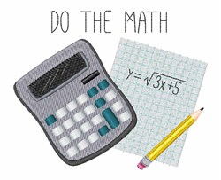 Do The Math embroidery design