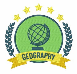 Geography Crest embroidery design