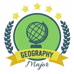 Geography Major embroidery design