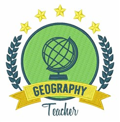 Geography Teacher embroidery design