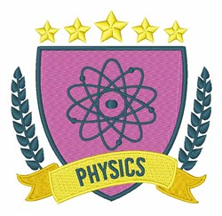 Physics Crest embroidery design