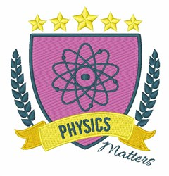 Physics Matters embroidery design