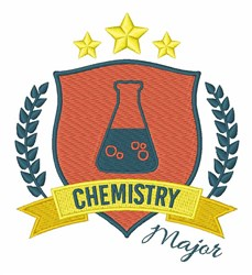 Chemistry Major embroidery design