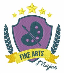 Fine Arts Major embroidery design