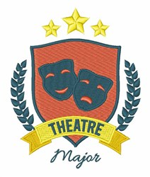 Theatre Major embroidery design
