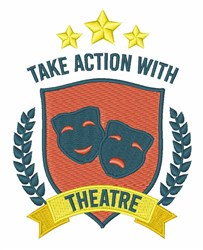 Theatre Action embroidery design