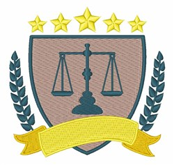 Criminal Justice Logo embroidery design