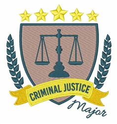 Criminal Justice Major embroidery design