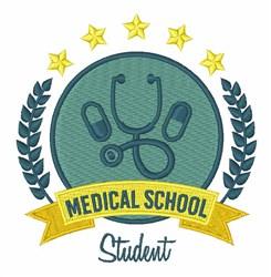 Medicine School embroidery design