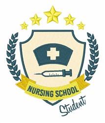 Nursing School Student embroidery design