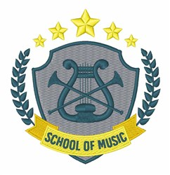School Of Music embroidery design
