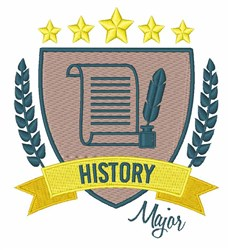 History Major embroidery design