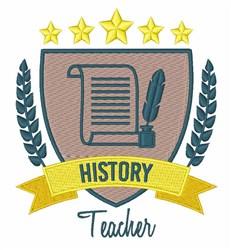 History Teacher embroidery design