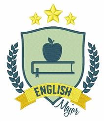 English Major embroidery design