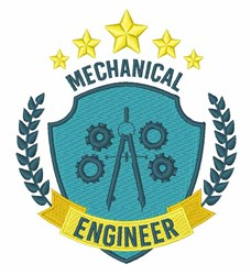 Mechanical Engineer embroidery design