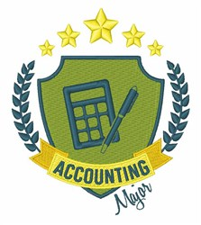 Accounting Major embroidery design